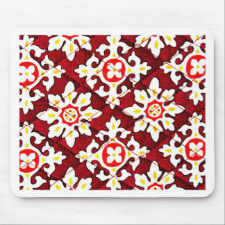 Rote Gewebe-Beschaffenheit Luxus Art Mode Mauspad