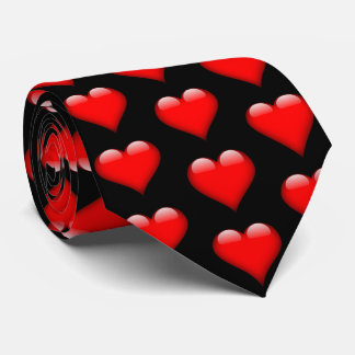 Rote glänzende Herz-Valentinsgruß-Krawatte Krawatte