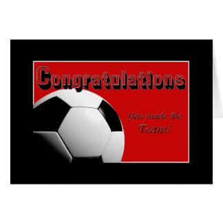 Rote Glückwünsche machten Sie das Team Karte