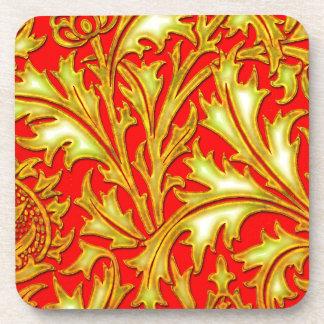 Rote Golddistel Getränkeuntersetzer