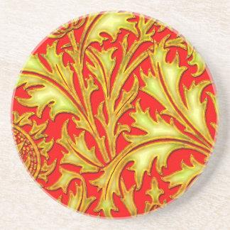 Rote Golddistel Sandstein Untersetzer