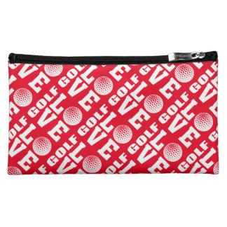 Rote Golf-Liebe-Make-upzusatz-Tasche Kosmetiktasche
