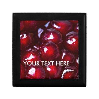 Rote Granatapfel-Samen Erinnerungskiste