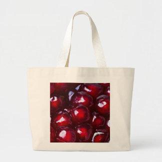 Rote Granatapfel-Samen Jumbo Stoffbeutel