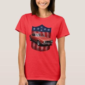 Rote große amerikanische Schild Camaro Damen T T-Shirt