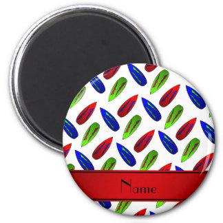 Rote grün-blaue Surfbretter des individuellen Runder Magnet 5,1 Cm