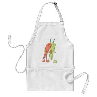 Rote grüne Chili-Liebhaber-Schatze