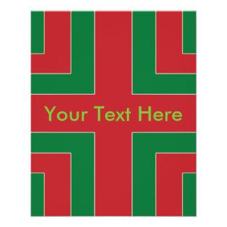 Rote/grüne Farbecke (M.Ü.) 11,4 X 14,2 Cm Flyer