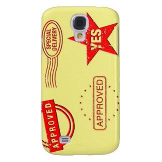Rote GummiBriefmarken Galaxy S4 Hülle
