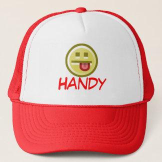 Rote handliche Kappe (Fernlastfahrer-Hut)