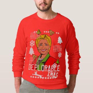 Rote hässliche Weihnachtsstrickjacke Hillary Sweatshirt