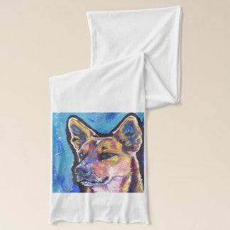 Rote Heeler australische Vieh-HundePop-Kunst Schal