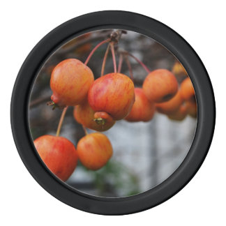 Rote Herbst-Äpfel Poker Chips