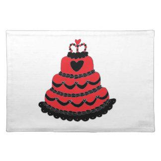 Rote Herz-gotischer Kuchen Tisch Set