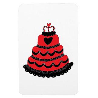 Rote Herz-gotischer Kuchen Vinyl Magnete