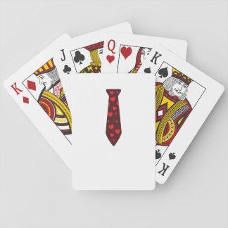Rote Herz-Krawatte für Liebe-Jugend-Kinder des Spielkarten