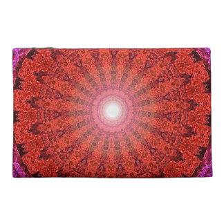 Rote Herz-Mandala-Tasche-Ursprüngliche Kunst durch