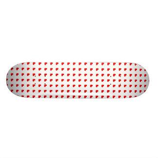 Rote Herz-Muster-Liebe Personalisierte Skateboards