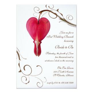 Rote Herz-Posten-Hochzeits-Brunch-Einladung 12,7 X 17,8 Cm Einladungskarte