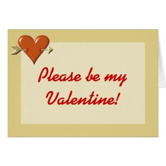 Rote Herz-Valentinstag-Karte Karte