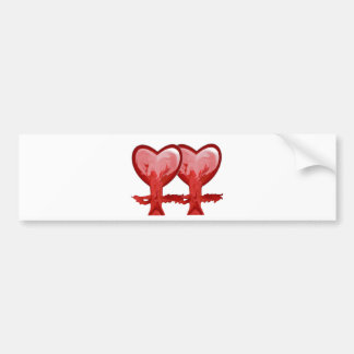 Rote Herzen Autoaufkleber