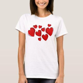 Rote Herzen T-Shirt