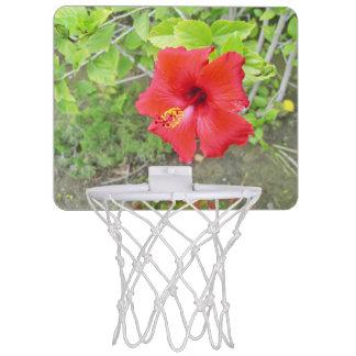 Rote Hibiskus-Gelbschande Mini Basketball Netz