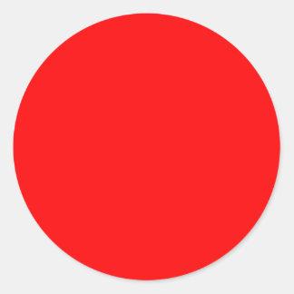 Rote Hintergrund Schablonen-bunte Tapete Runder Aufkleber