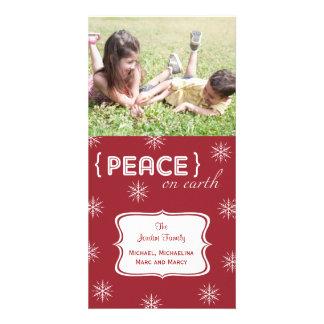 Rote Hintergrund-Weltfrieden-Foto-Feiertags-Karte Bilderkarten