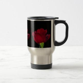 Rote Hochzeits-Rose Reisebecher