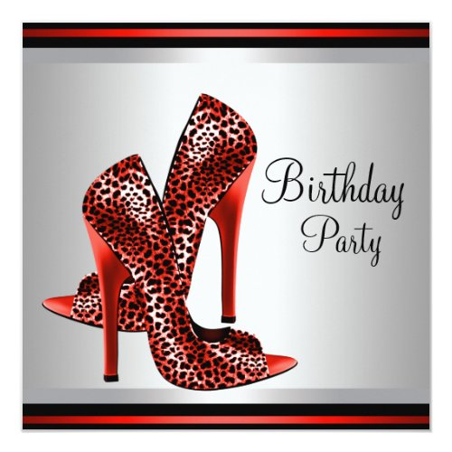 rote Einladungen zum 18. Geburtstag | meine