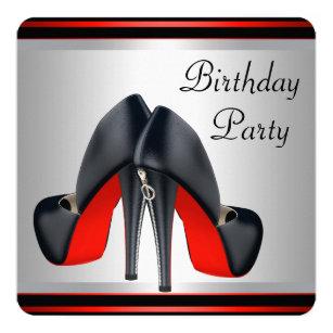 Schwarzer Schuh Einladungen |