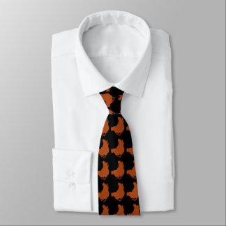 Rote Huhn-Henne Bedruckte Krawatte