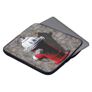 Rote Hydrant-Illustration New York Laptop Sleeve
