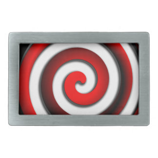 Rote Hypnotik-Spirale Rechteckige Gürtelschnalle