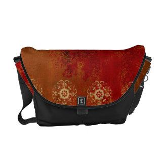 rote Indien-Musterschwarzes Currier-Botetasche Kurier Tasche