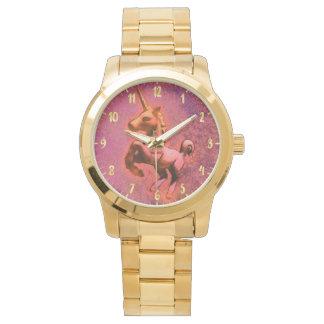 Rote Intensität der Einhorn-Armbanduhr-| Uhr
