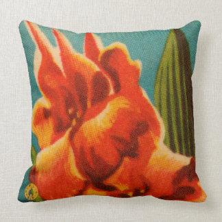 Rote Iris Kissen