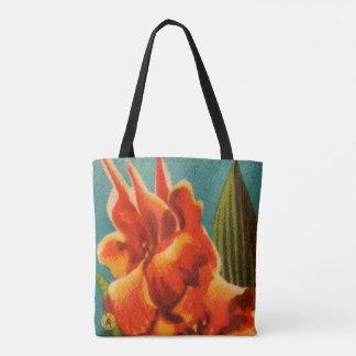 Rote Iris Tasche