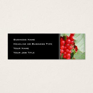Rote Johannisbeeren auf der Pflanze. Grün-Blätter Mini Visitenkarte
