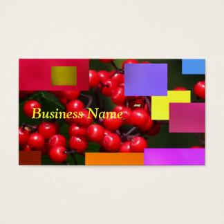 Rote Kaffee-Beeren Visitenkarte