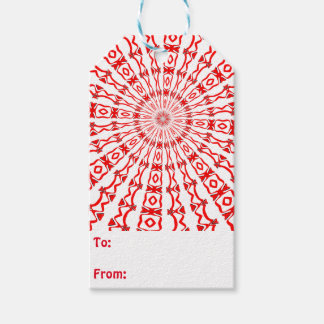 Rote Kaleidoskop-Geschenk-Umbauten Geschenkanhänger