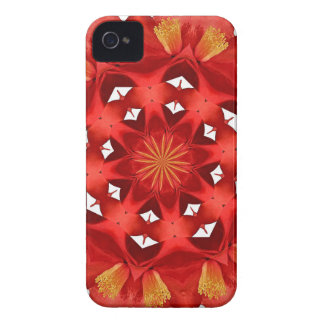 Rote Kamelien-Mandala iPhone 4 Case-Mate Hülle