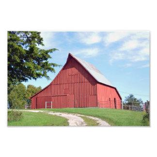 Rote Kansas-Scheune Fotodruck