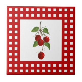 Rote Karo-Kirschfliese Keramikfliese