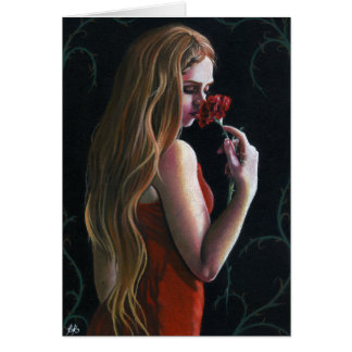 Rote Karte Rosen Dame Rose Carnation Gothic