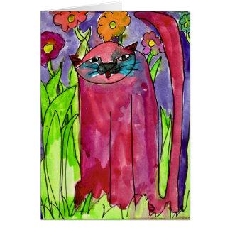 Rote Katze • Bianca Saad, altern 8 - Karte