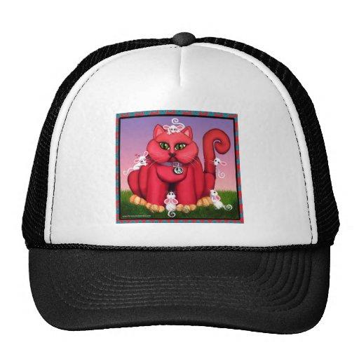 Rote Katze Truckercap