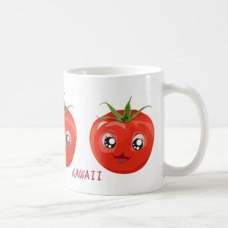 Rote kawaii Tomate Weiß-Tasse Kaffeetasse