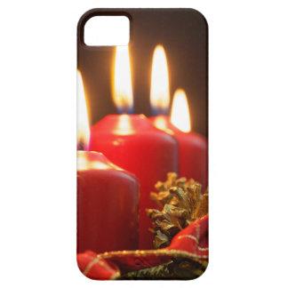 Rote Kerzen einer Einführung winden mit Etui Fürs iPhone 5